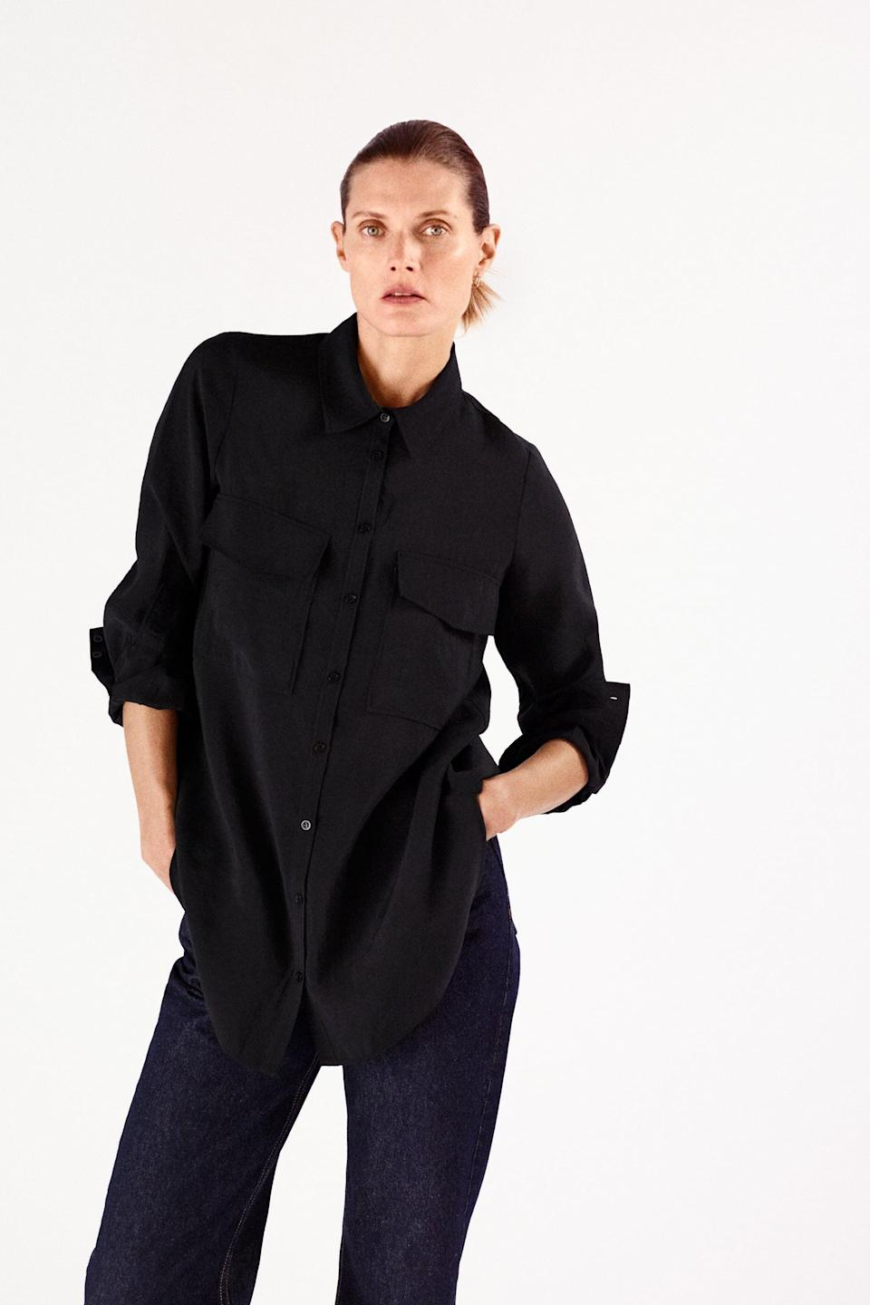 <p><span>Zara Button-Down Shirt</span> ($20, originally $40)</p>