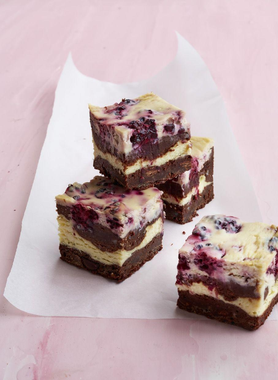 "<p>Cheesecake and brownies come together to form a gold-star Thanksgiving dessert. </p><p><strong><em><a href=""https://www.womansday.com/food-recipes/food-drinks/recipes/a51587/blackberry-cheesecake-brownies/"" rel=""nofollow noopener"" target=""_blank"" data-ylk=""slk:Get the Blackberry Cheesecake Brownies recipe."" class=""link rapid-noclick-resp"">Get the Blackberry Cheesecake Brownies recipe. </a></em></strong></p>"