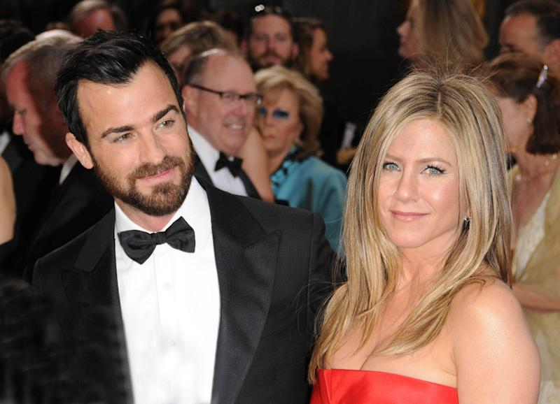 Jennifer Aniston and Justin Theroux Split - 2/15/18 - File Photo by: FentonPhoto/STAR MAX/IPx 2013 2/24/13 Justin Theroux and Jennifer Aniston at the 85th Academy Awards (The Oscars). (Hollywood, CA)