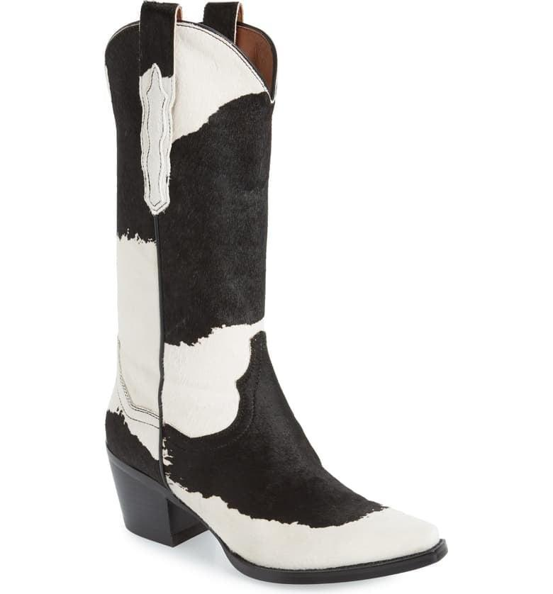 <p>Take on the cow-print trend with these <span>Jeffrey Campbell Dagget Genuine Calf Hair Western Boots</span> ($315). If you feel like making a statement, this is the way to do it.</p>