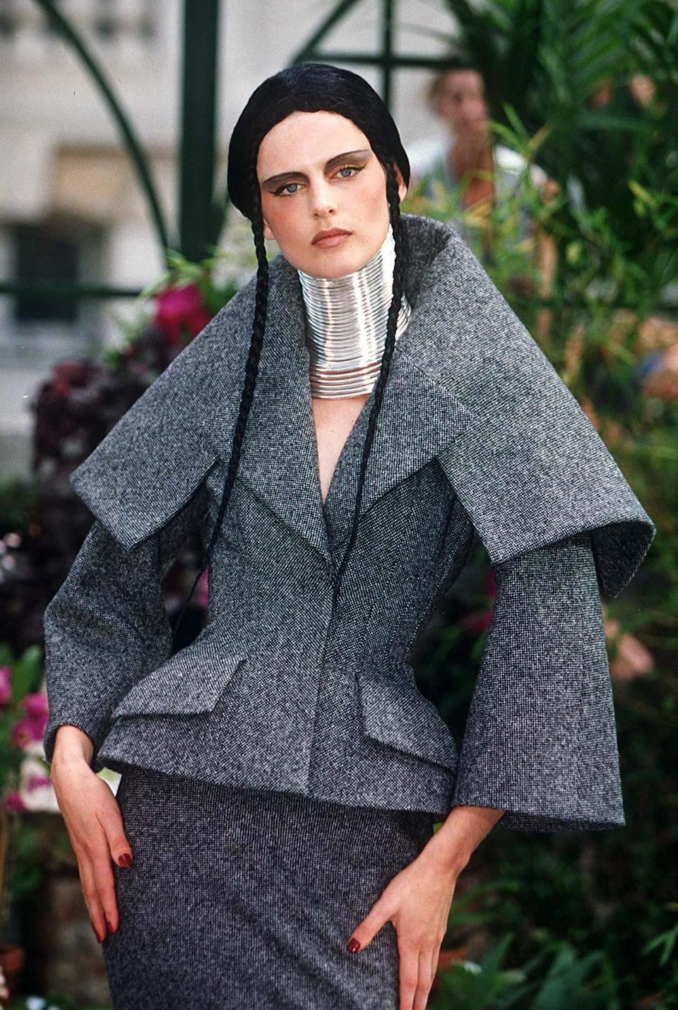 Stella Tennant wears Dior by John Galliano at Paris Fashion Week in 1997Steve Wood/REX