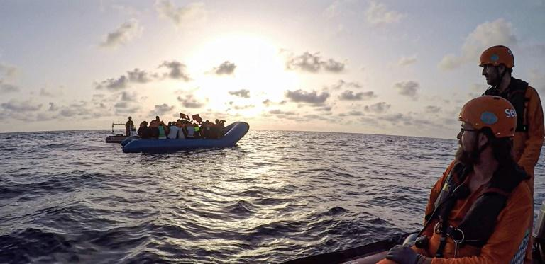 The migrants on the Alan Kurdi were rescued on Wednesday off Libya