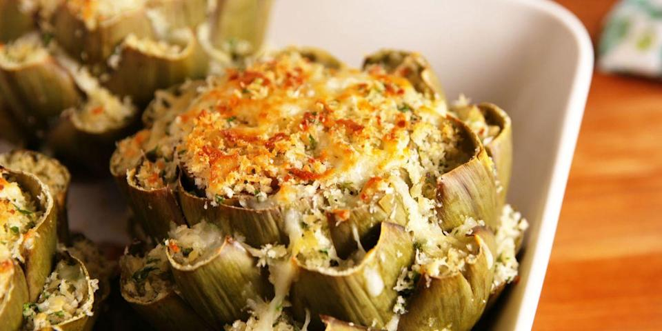 This Cheesy Stuffed Artichoke Is The Perfect Side