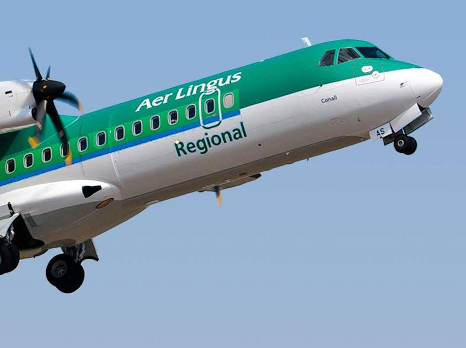Stobart Air plane in the colours of Aer Lingus Regional (Aer Lingus)