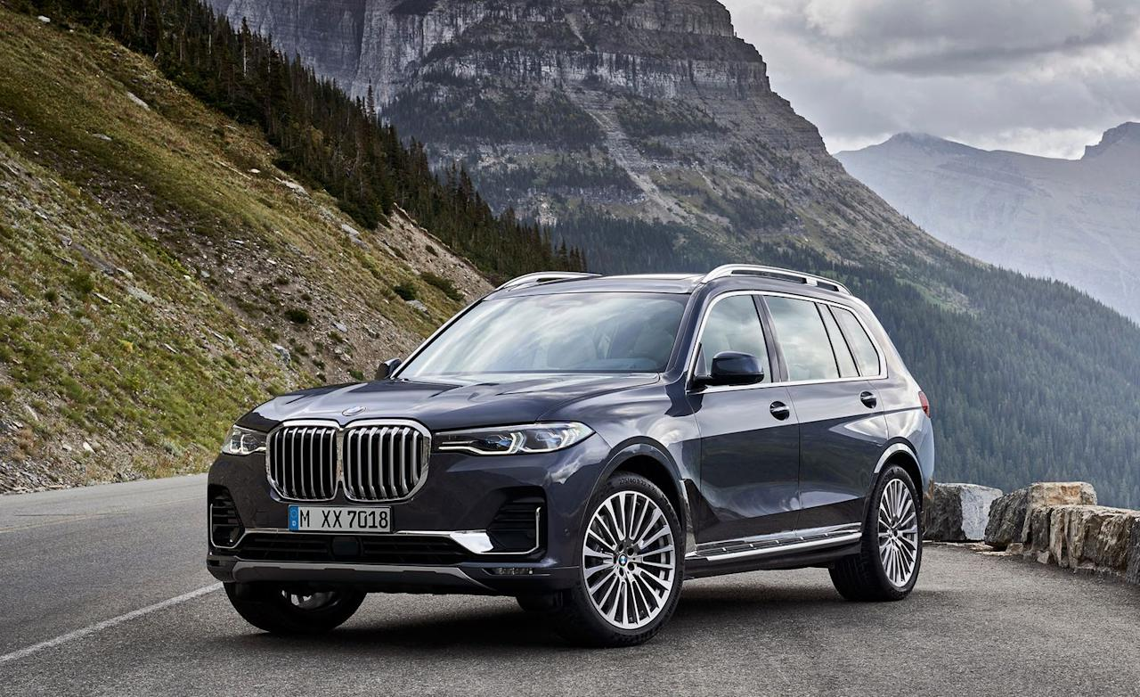 "<p>BMW steps into the full-size crossover market for the first time ever this year with its new flagship SUV, <a rel=""nofollow"" href=""https://www.caranddriver.com/bmw/x7"">the X7</a>. And, in keeping with rig's the big form factor, the Bavarians have imbued it with big muscle underhood. Skip past the base X7 xDrive40i, and you land in the top-of-the-line xDrive50i, which uses a 456-hp twin-turbocharged V-8 and reaches 60 mph in a claimed 5.2 seconds. That estimated acceleration time is 0.6 seconds quicker than the base six-cylinder version.</p>"