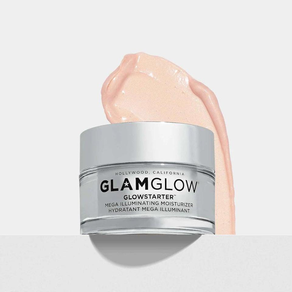 <p>The <span>GlamGlow GlowStarter Mega Illuminating Moisturizer</span> ($50) is a moisturizer-meets-highlighter that will give your skin an instant hydrated glow. It comes in two shades so you can get the glow you want.</p>