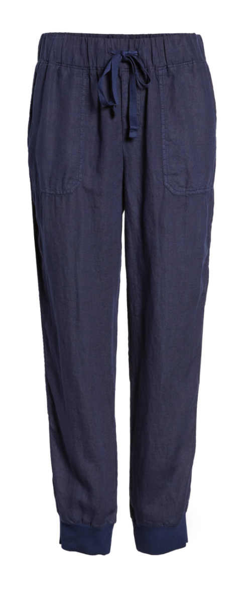 Caslon Linen Jogger Pants in Navy Peacoat