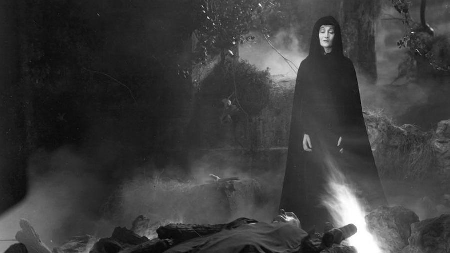 The Countess stands over the the grave of her father, the notorious Count Dracula, hoping his death means her freedom.