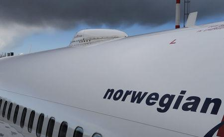 FILE PHOTO -  A satellite antenna on the roof of the Norwegian Airways Boening 737-800 at Berlin Schoenefeld Airport