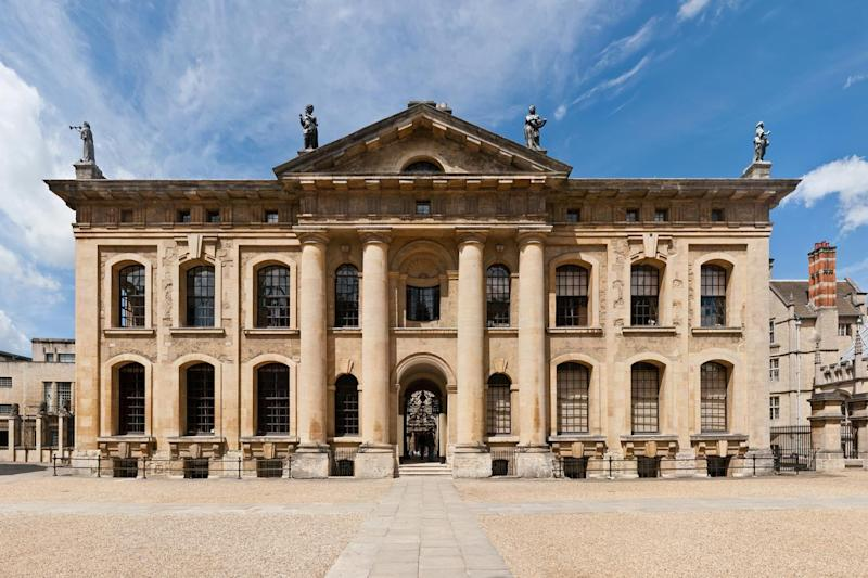The incident happened at Oxford University's Clarendon building