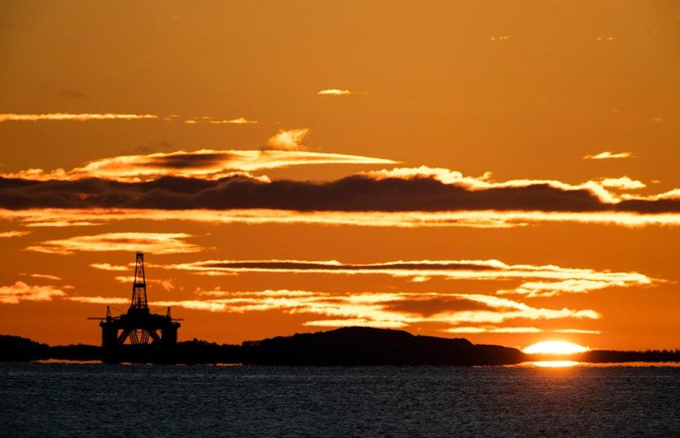 Empty or depleted oil fields can be used to store the hydrogen (Jane Barlow/PA) (PA Archive)