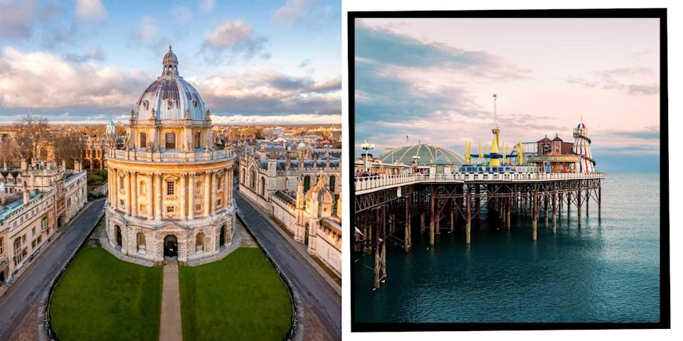 """<p>A day trip out of London has never been more essential in light of the <a href=""""https://www.elle.com/uk/life-and-culture/a32684701/life-after-coronavirus/"""" rel=""""nofollow noopener"""" target=""""_blank"""" data-ylk=""""slk:Coronavirus pandemic"""" class=""""link rapid-noclick-resp"""">Coronavirus pandemic</a>. </p><p>Samuel Johnson once said that 'when a man is tired of London, he is tired of life'. But we're pretty sure he might have changed his mind about that if he'd had to live through endless <a href=""""https://www.elle.com/uk/life-and-culture/culture/a32893128/excruciating-pain-of-zoom-parties/"""" rel=""""nofollow noopener"""" target=""""_blank"""" data-ylk=""""slk:Zoom parties"""" class=""""link rapid-noclick-resp"""">Zoom parties</a> and weekly Deliveroos to east London during lockdown.</p><p>As lockdown restrictions begin to ease in England as we head into spring and summer, exploring the sights of the UK has never been more appealing. And with global air pollution down during lockdown and more of us now inclined to enjoy <a href=""""https://www.elle.com/uk/life-and-culture/travel/g33949169/english-country-cottages/"""" rel=""""nofollow noopener"""" target=""""_blank"""" data-ylk=""""slk:staycations"""" class=""""link rapid-noclick-resp"""">staycations</a> and day trips in the UK instead of hopping on a short-haul flight more than ever before, we can't think of anything better than hopping in a car with our lockdown bubble or on the train to reduce our carbon footprint and enjoy what's on our doorstep in the UK. </p><p>From fish and chips at the seaside to punting along some of the country's most picturesque rivers, the island offers travellers some of the best day trips. </p><p><strong>Here is a list of the best day trips from London:</strong></p>"""