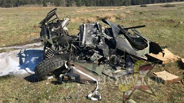 These are the remains of one of the $220,000 Humvees. Photo: Twitter