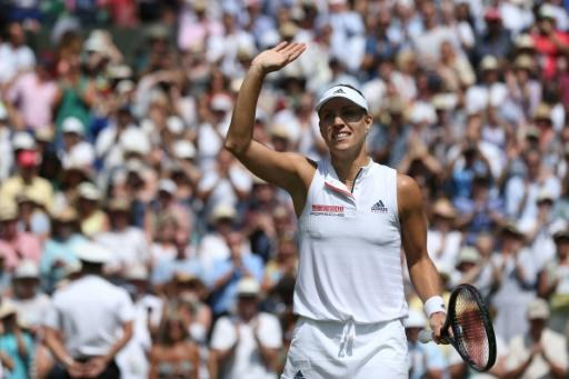 Germany's Angelique Kerber is in her second Wimbledon final