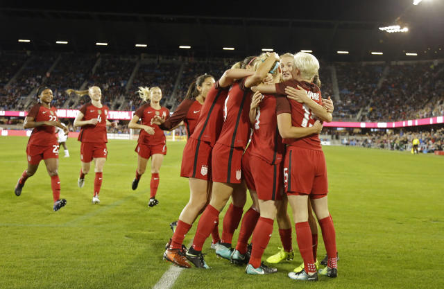 The United States women's soccer team ended a tough 2017 on a high note against Canada. (AP)