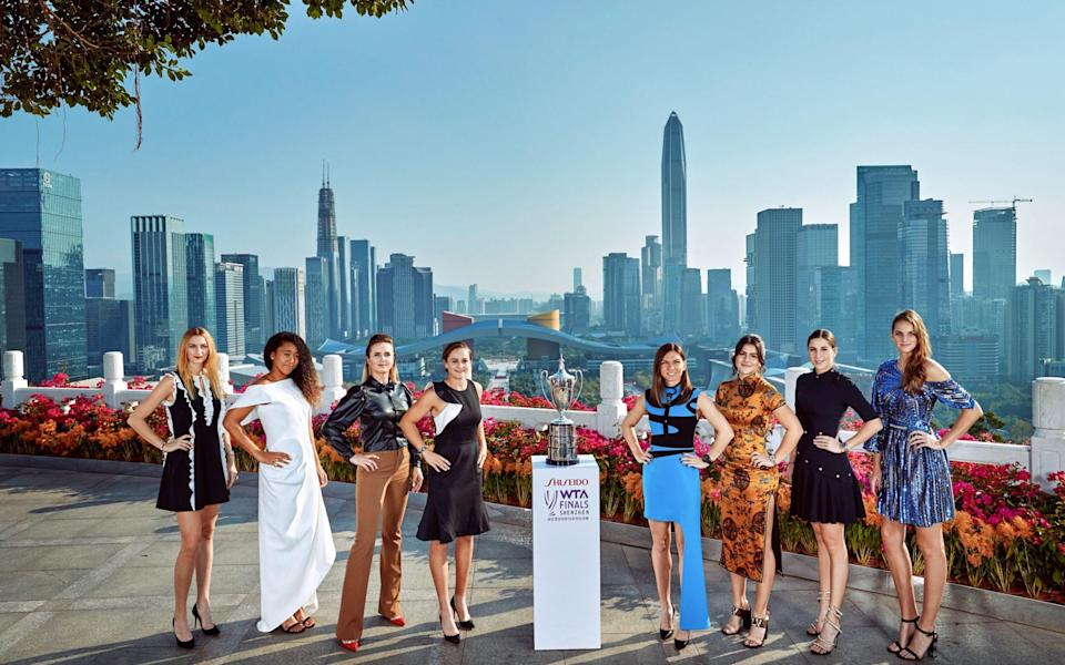 The WTA Finals is being staged in Shenzen, China for the first time - Visual China Group