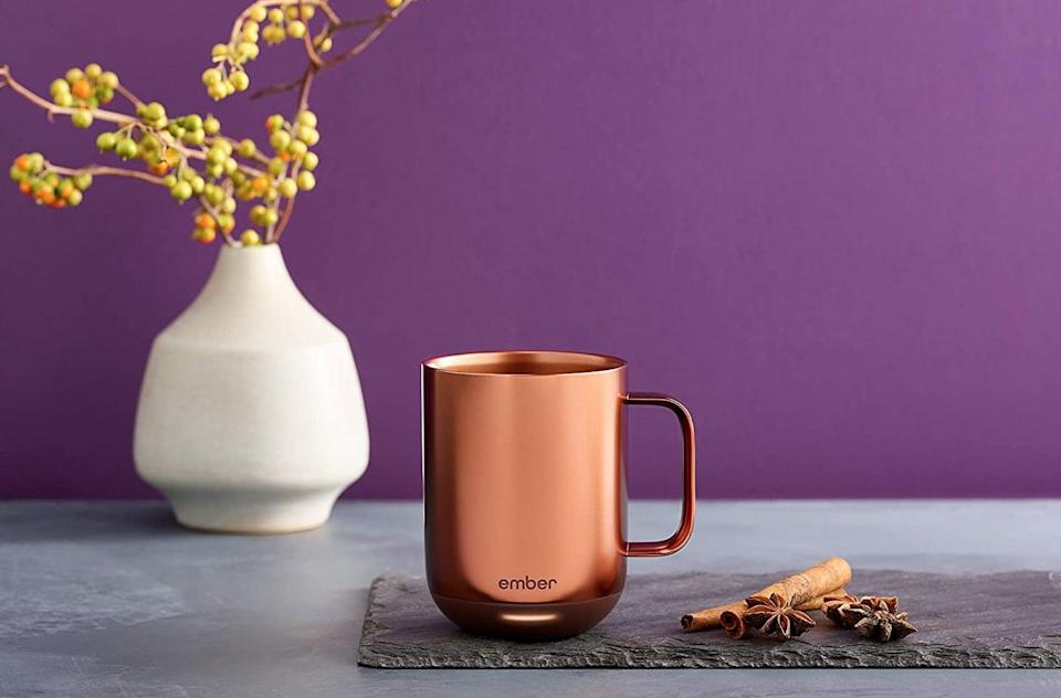 <p>This <span>Ember Temperature Control Smart Mug 2</span> ($130) will keep your drink at your desired temperature for however long you decide to nurse it.</p>
