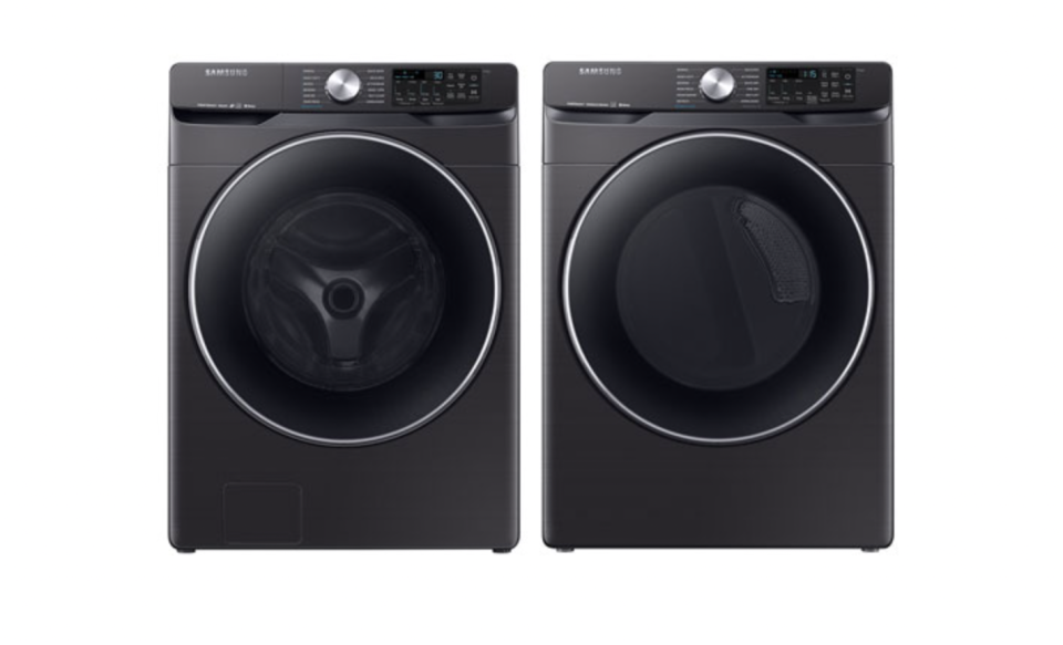 Samsung High-Efficiency Front Load Washer & Electric Steam Dryer (Photo via Best Buy Canada)