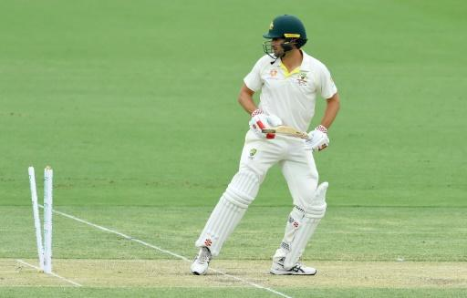 Australia's Joe Burns was out for 180 on Saturday, day two of the second Test against Sri Lanka in Canberra