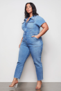"""<p><strong>Good American</strong></p><p>goodamerican.com</p><p><strong>$155.00</strong></p><p><a href=""""https://go.redirectingat.com?id=74968X1596630&url=https%3A%2F%2Fwww.goodamerican.com%2Fproducts%2Fmilitary-jumpsuit-blue274&sref=https%3A%2F%2Fwww.cosmopolitan.com%2Fstyle-beauty%2Ffashion%2Fg10327302%2Fcute-fall-outfits%2F"""" rel=""""nofollow noopener"""" target=""""_blank"""" data-ylk=""""slk:Shop Now"""" class=""""link rapid-noclick-resp"""">Shop Now</a></p><p>Keep this denim jumpsuit buttoned up for when you're trying to be profesh. Don't forget you can always go the sexy route with a lace bralette and a few buttons undone. </p>"""