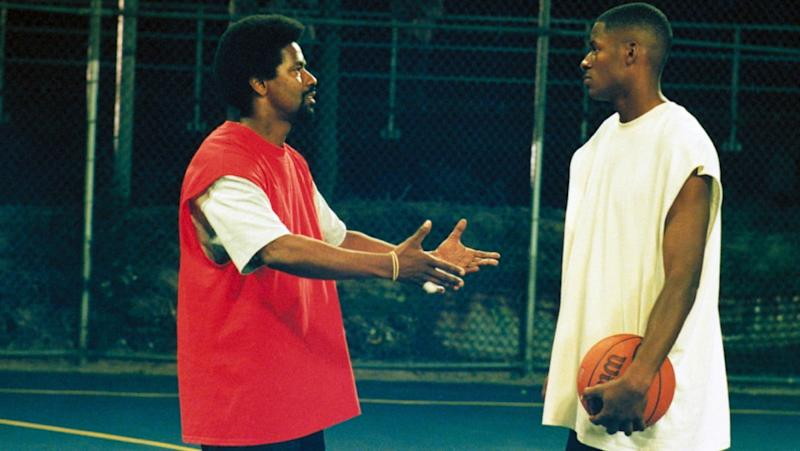 Denzel Washington and Ray Allen in He Got Game