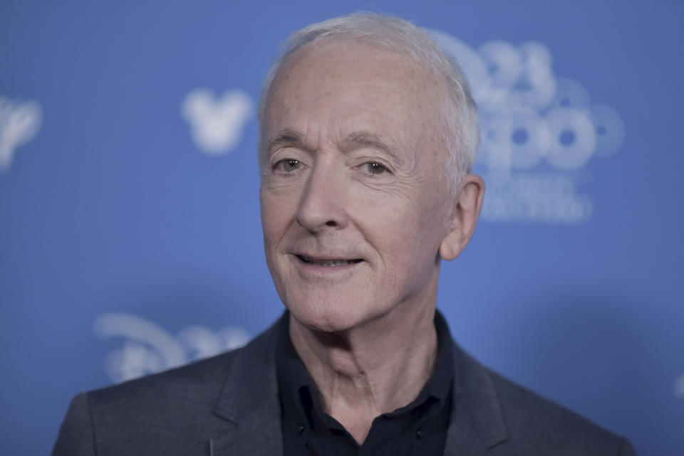 """Anthony Daniels attends """"Go Behind the Scenes with the Walt Disney Studios"""" press line at the 2019 D23 Expo on Saturday, Aug. 24, 2019, in Anaheim, Calif. (Photo by Richard Shotwell/Invision/AP)"""