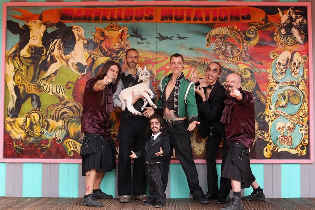 Members of 'The Royal Family of Strange People' pose for a photograph at the Priceless London Wonderground at the Southbank Centre on July 19, 2012 in London, England. The performance is one of many that is taking place at the Priceless London Wonderground, next to Jubilee Gardens, which opens on July 20, 2012 and runs until September 29, 2012.  (Photo by Oli Scarff/Getty Images)