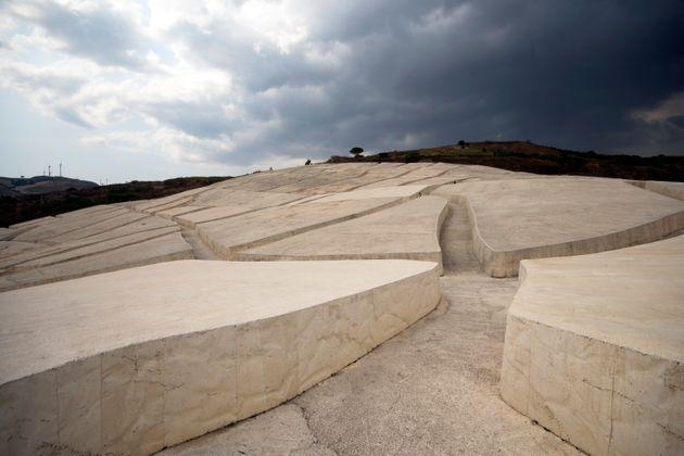 The Burri cretto or Gibellina cretto is the name with which the Grande Cretto is known, a land art work by Alberto Burri between 1984 and 1989 in the place where the old town of Gibellina stood, completely destroyed in 1968 by the earthquake del Belice. (Photo: fabiofoto via Getty Images)