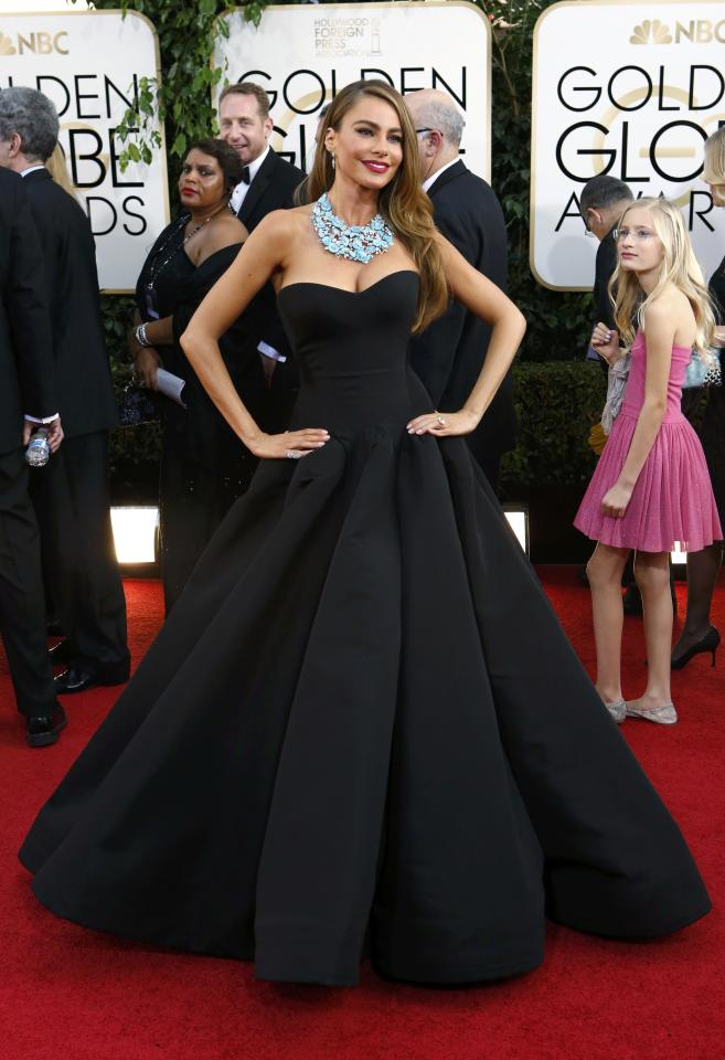 """Actress Sofia Vergara from the sitcom """"Modern Family"""" arrives at the 71st annual Golden Globe Awards in Beverly Hills, California January 12, 2014. REUTERS/Mario Anzuoni (UNITED STATES - Tags: Entertainment)(GOLDENGLOBES-ARRIVALS)"""