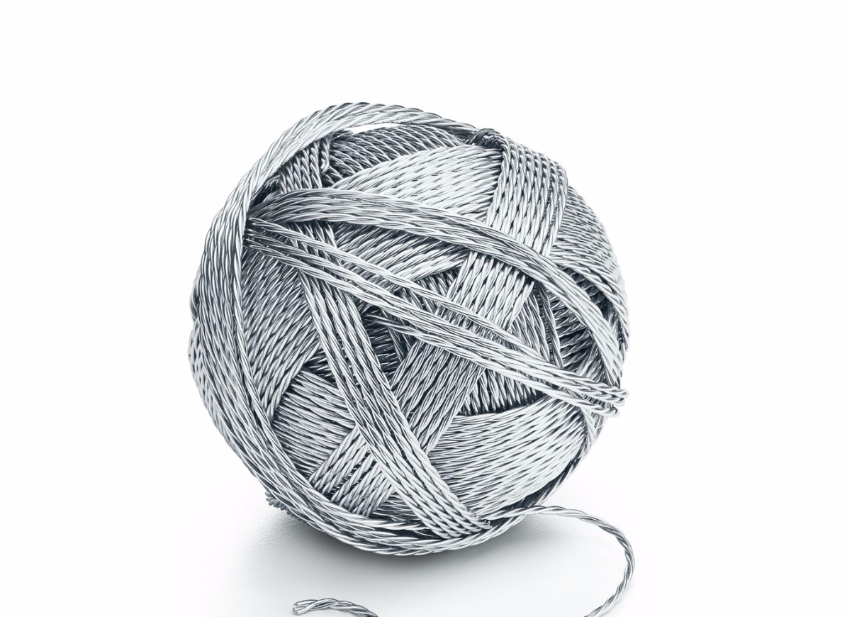 <p>For example, this $12,000 CAD ball of yarn with handspun strands of textured sterling silver. </p>