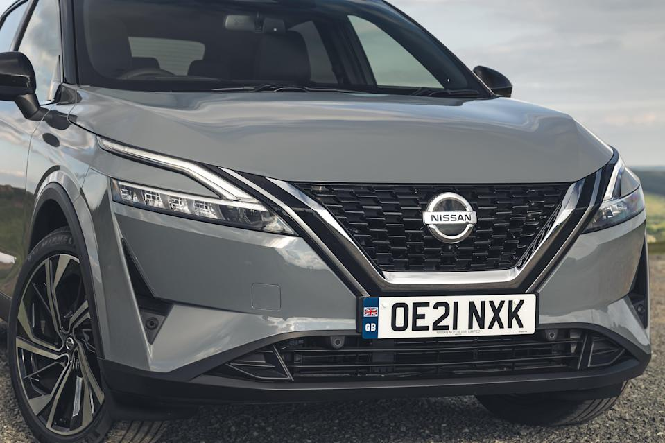 The new model features a bigger, bolder grille (Nissan)