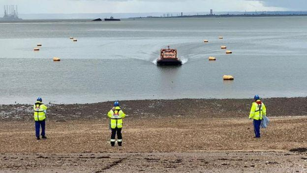 The children were all safely taken out the water (Picture: HM Coastguard Southend)