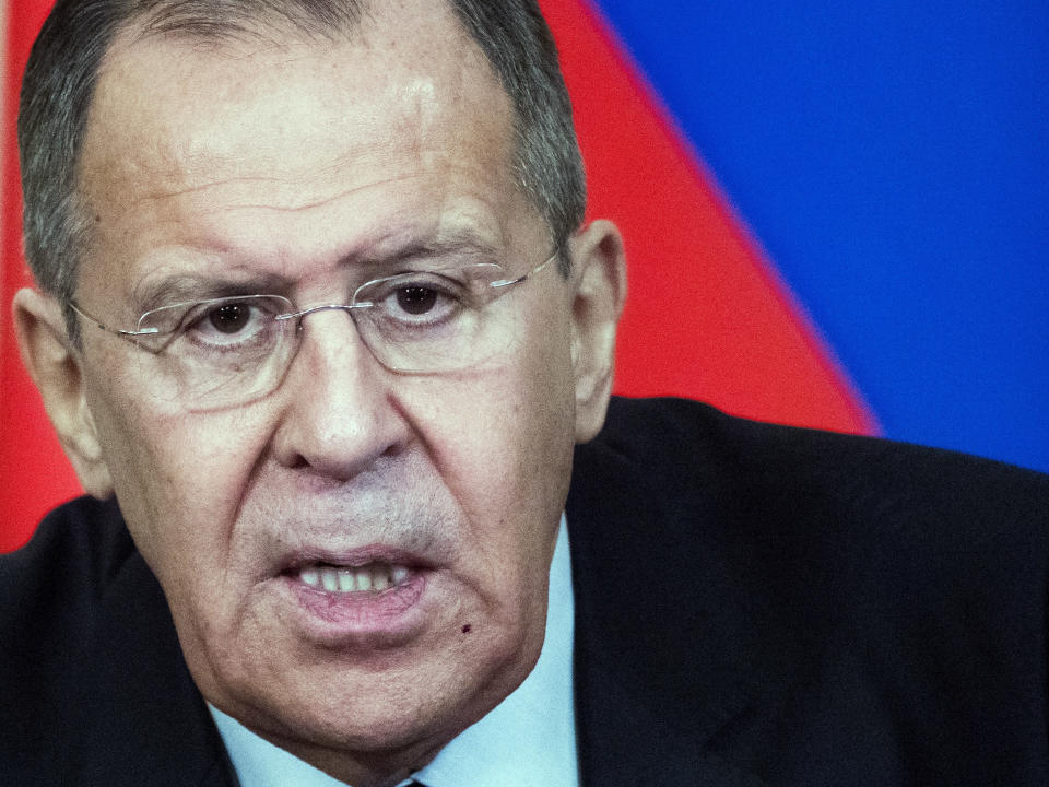 <em>Tensions – Russian Foreign Minister Sergey Lavrov also declared that East-West tensions are worse now than during the Cold War (Pictures: AP)</em>