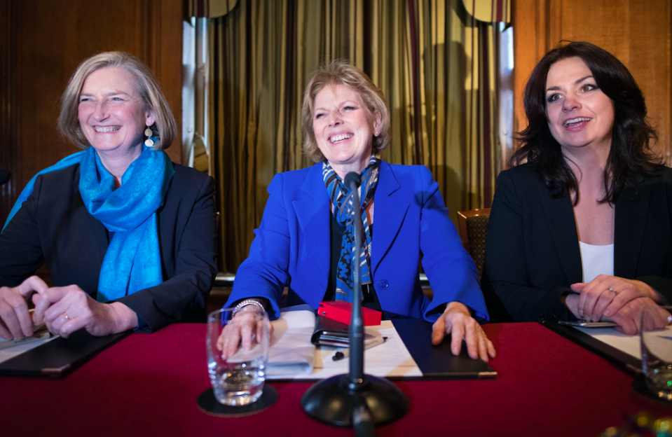 <em>Sarah Wollaston, Anna Soubry and Heidi Allen left the Tory party to join The Independent Group (PA)</em>