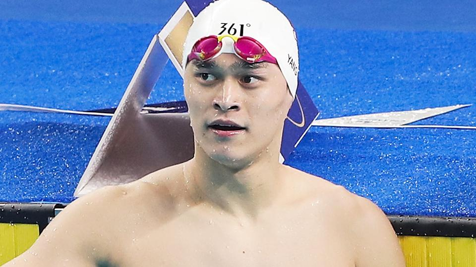 Sun Yang, pictured here in action at the FINA Champions Swim Series in 2020.