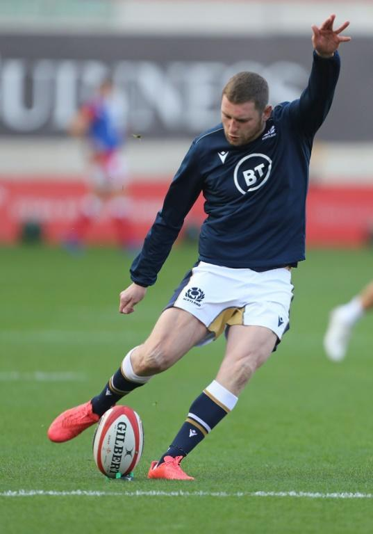 Injured - Scotland fly-half Finn Russell went off in the 31st minute