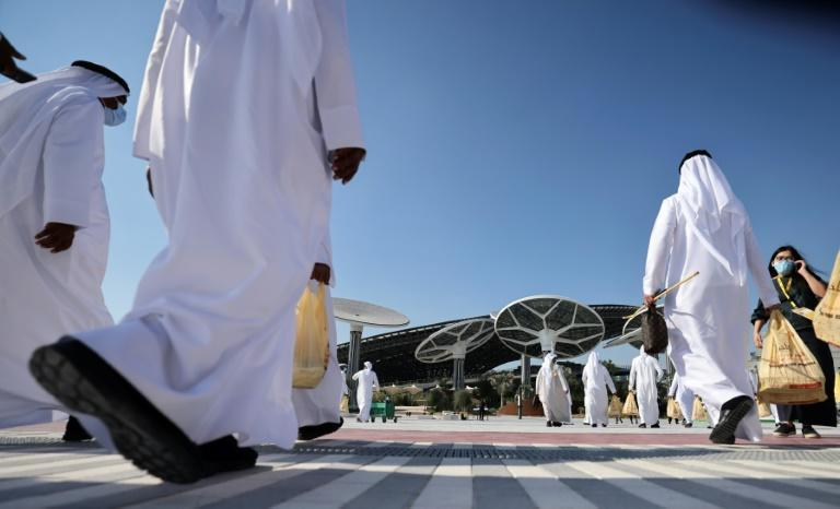 Expo, which is being held in the Middle East for the first time, is expected to draw 25 million visitors (AFP/Karim SAHIB)