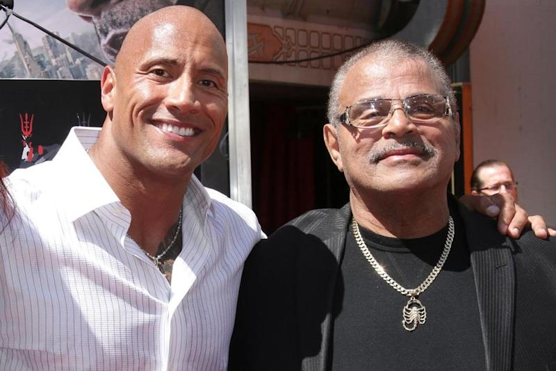 Dwayne Johnson and Rocky Johnson | Jim Smeal/BEI/Shutterstock