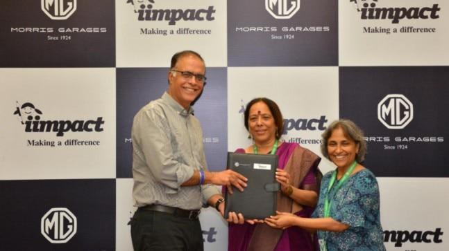 Partnering Iimpact NGO, which is engaged in providing quality education to young girls through its learning centres in remote villages across the country, MG Motor India is making donations to facilitate a month's education of a girl child.