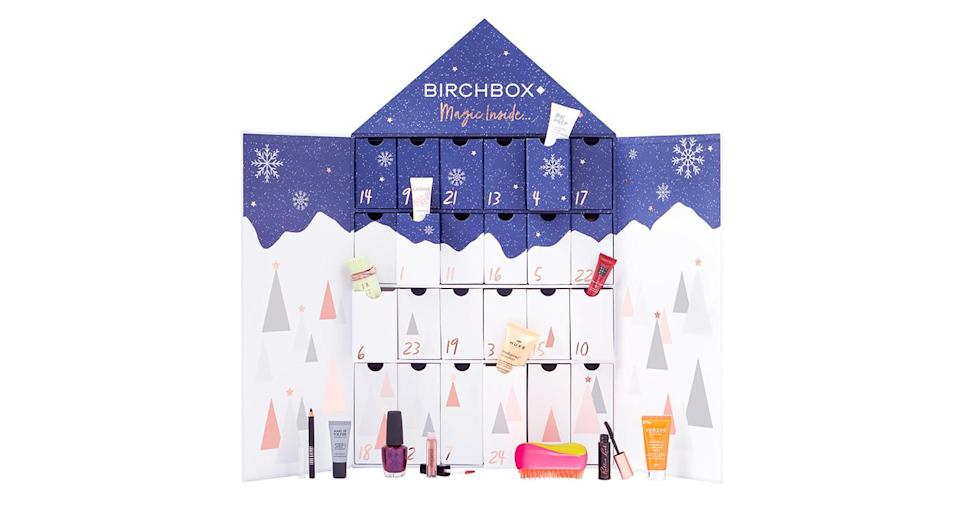 """<p>Last year, Birchbox's advent calendar sold out within 24 hours so make sure to hurry if you're hoping to snap one up. The 2018 24-window gift set includes products from brands including Smashbox, Benefit Cosmetics and Pixi. Available online <a href=""""https://www.birchbox.co.uk/"""" rel=""""nofollow noopener"""" target=""""_blank"""" data-ylk=""""slk:now"""" class=""""link rapid-noclick-resp"""">now</a> for £65. </p>"""