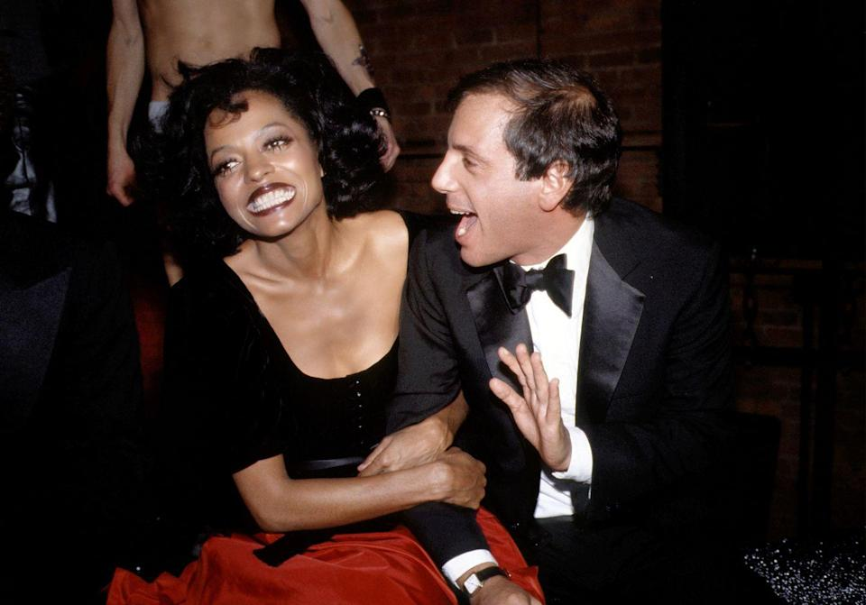 <p>Diana Ross is all smiles to ring in 1979, as she and Steve Rubell attend Studio 54's New Year's Eve party in New York City. </p>