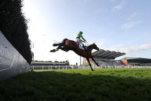 Janidil, ridden by Jody McGarvey, won the Underwriting Exchange Gold Cup Novice Chase at the Fairyhouse Easter Festival