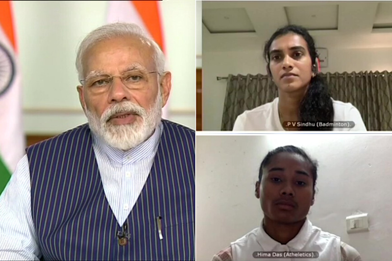 Modi Holds Meet with 40 Sportspersons on Covid-19 Lockdown, Seeks Support to Spread Awareness