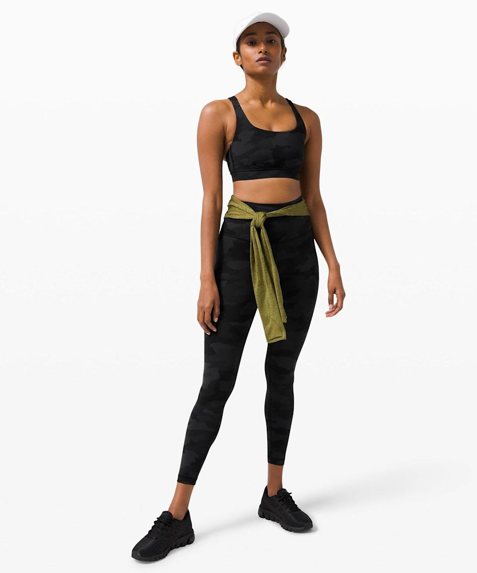 <p>When you're going for a sweaty workout, reach for this <span>Lululemon Wunder Train High-Rise Tight</span> ($98) and <span>Energy Bra</span> ($52).</p>