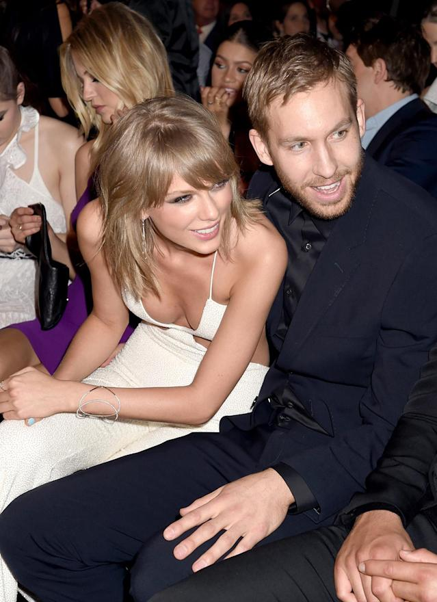 Taylor Swift and DJ Calvin Harris at the 2015 Billboard Music Awards in Las Vegas. (Photo: Jeff Kravitz/BMA2015/FilmMagic)