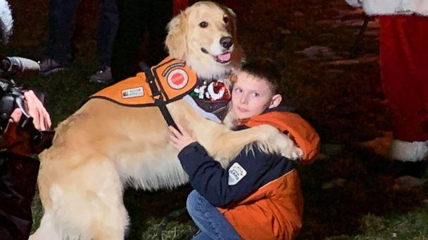 PHOTO: Santa visited an Indiana boy, who was initially denied a visit with Mr. Claus because of the boy's service dog. (Brownsburg Fire Territory )