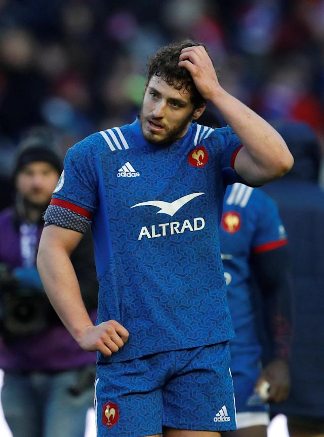 Rugby Union - Six Nations Championship - Scotland vs France - BT Murrayfield, Edinburgh, Britain - February 11, 2018 France's Paul Gabrillagues looks dejected after the match REUTERS/Russell Cheyne