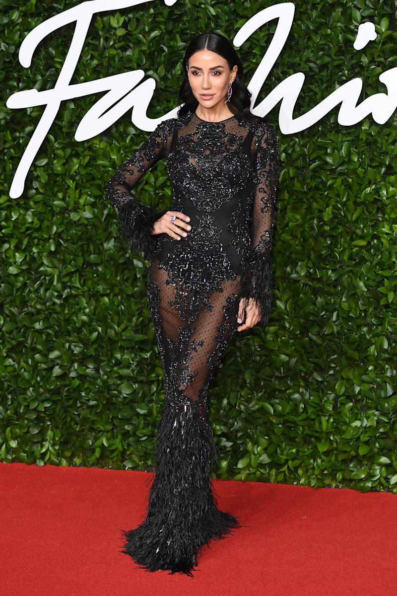 Tamara Kalinic arrives at The Fashion Awards 2019