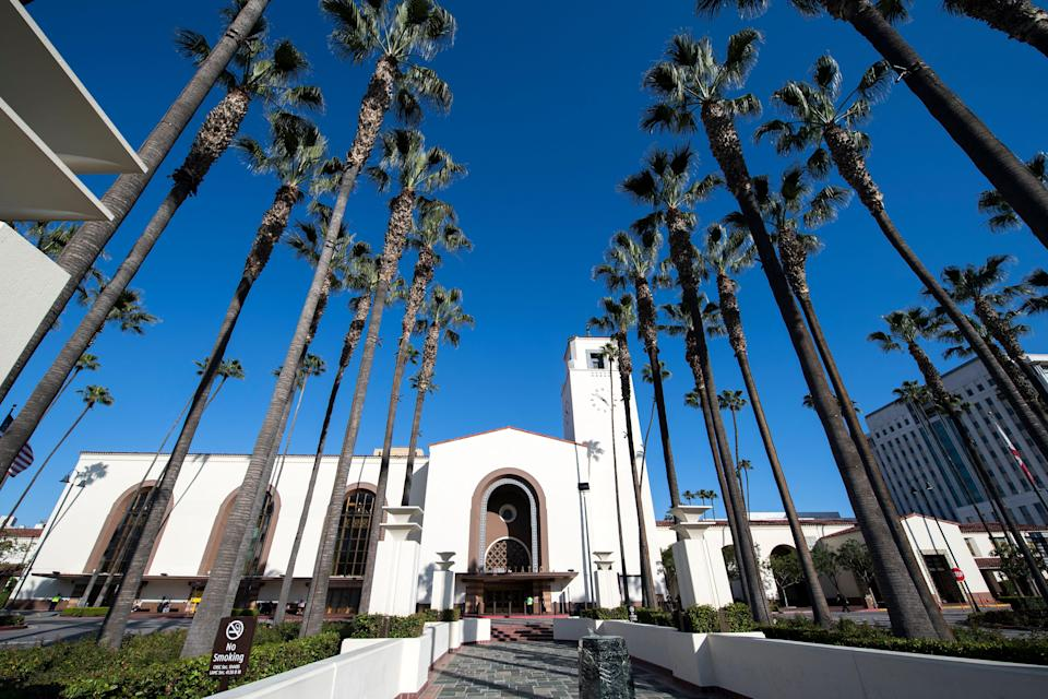 Guests will head over to Los Angeles transport hub Union StationAFP via Getty Images