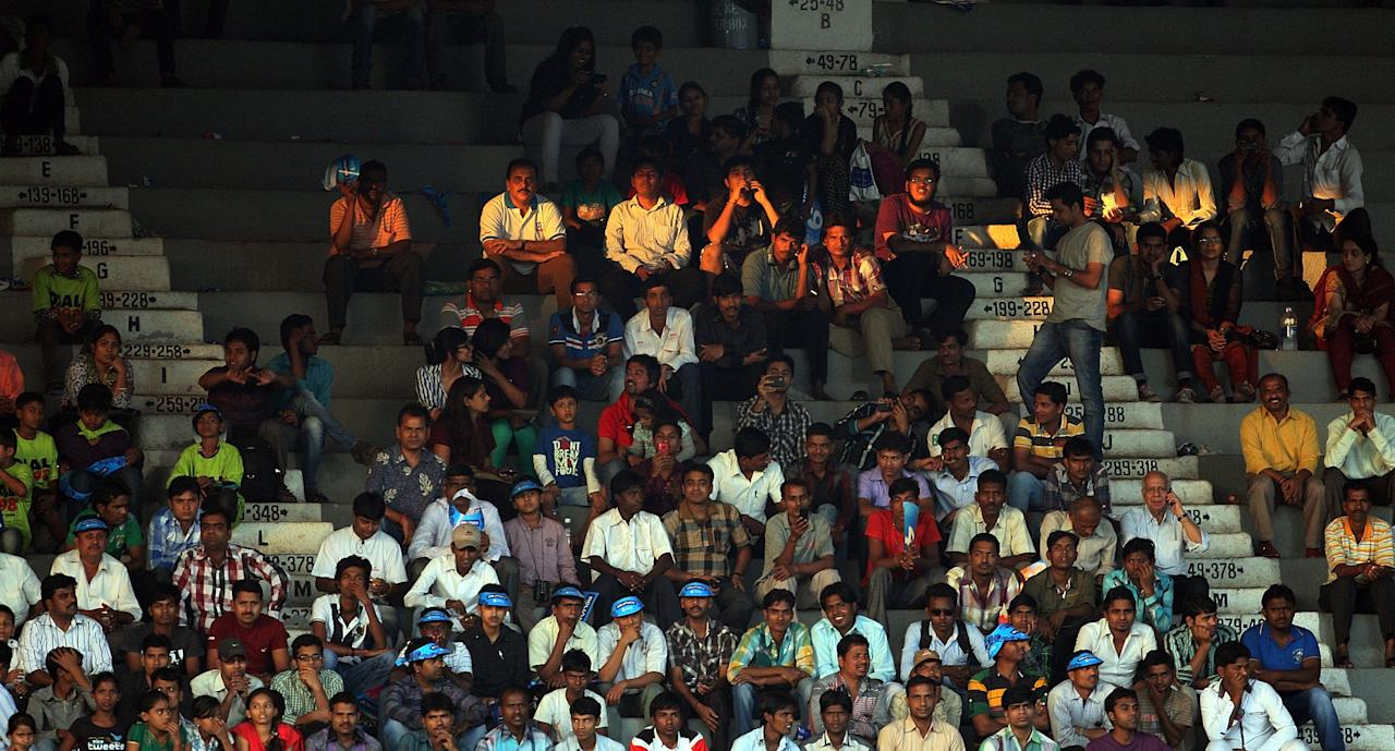 MUMBAI, INDIA - FEBRUARY 17: Crowd scenes during the final between Australia and West Indies of the Women's World Cup India 2013 played at the Cricket Club of India ground on February 17, 2013 in Mumbai, India. (Photo by Graham Crouch/ICC via Getty Images)